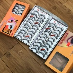 New in box fake eyelashes/ 3 boxes total